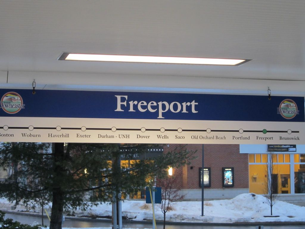 Amtrak Platform, Freeport, Maine