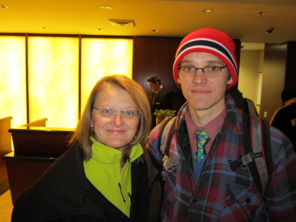 Mark and Mary upon our arrival at the Hilton.