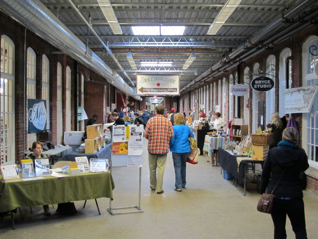 The Pawtucket Winter Farmers' Market, Saturday morning.
