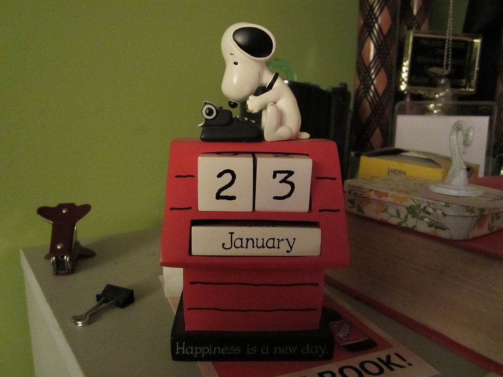 Snoopy says it's my birthday.