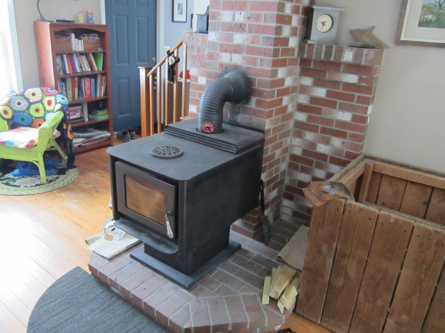 Our trusty wood stove; low-tech at its best.