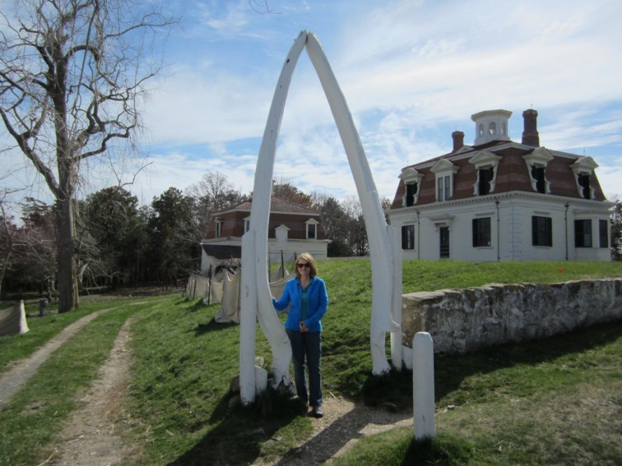 An actual whalebone at the Penniman House, Fort Hill, Eastham, Mass.
