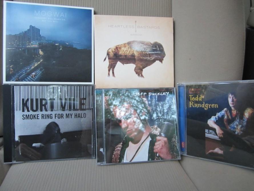Mogwai, The Heartless Bastards, Kurt Vile, Jeff Buckley, Todd Rundgren.