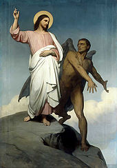 The Devil depicted in the Temptation of Christ, by Ary Scheffer, 1854.