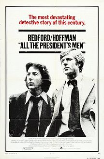 "Redford and Hoffman starring in ""All The President's Men."""