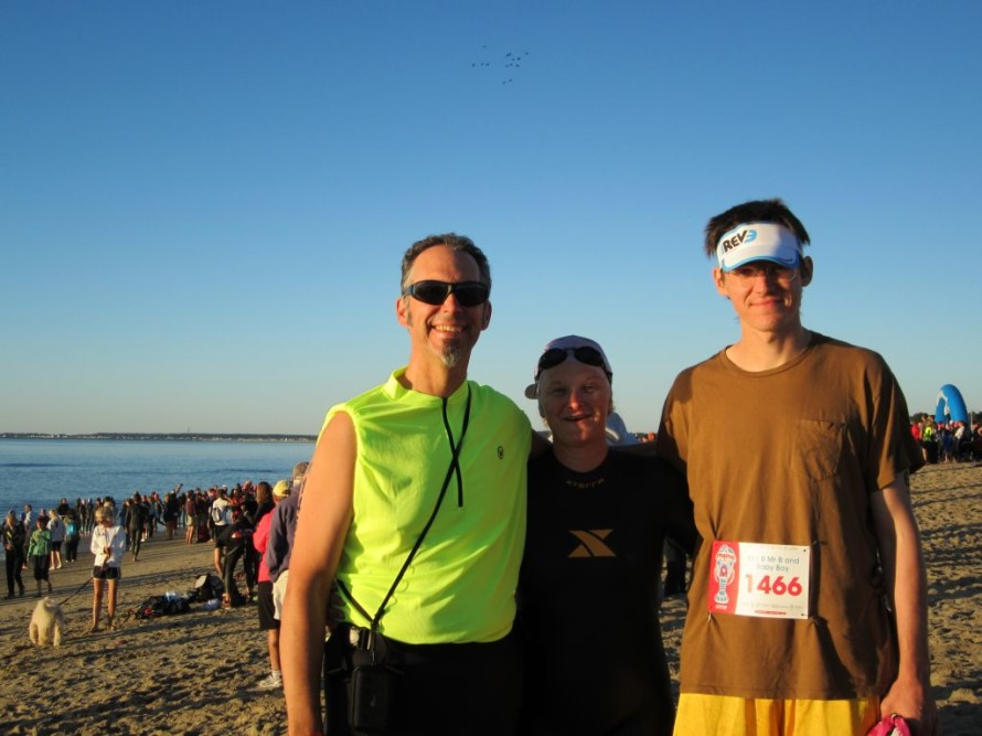 Team Baumer; Jim (Mr. B), Mary (Mrs. B), Mark (Baby Boy).