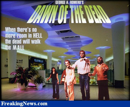"Zombies at the mall; from George Romero's ""Dawn of the Dead"""