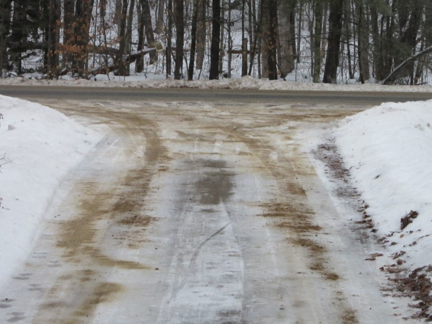 Happiness is a Sanded Driveway.
