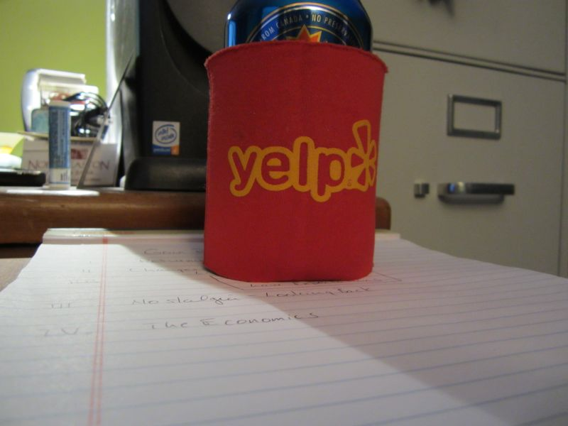 Yelp keeps your beer cold.