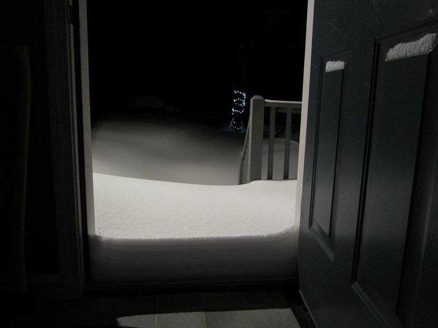 Lots of snow to shovel.