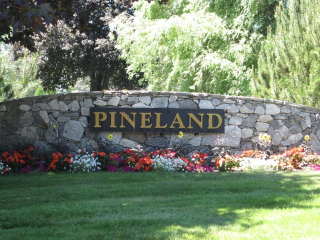 The entrance to Pineland off Route 231.