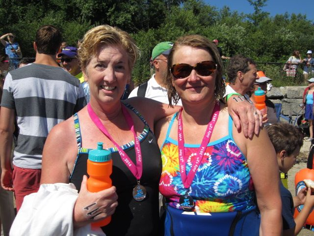Mary and friend, Donna, after P2P.