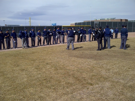 Umpire instruction.