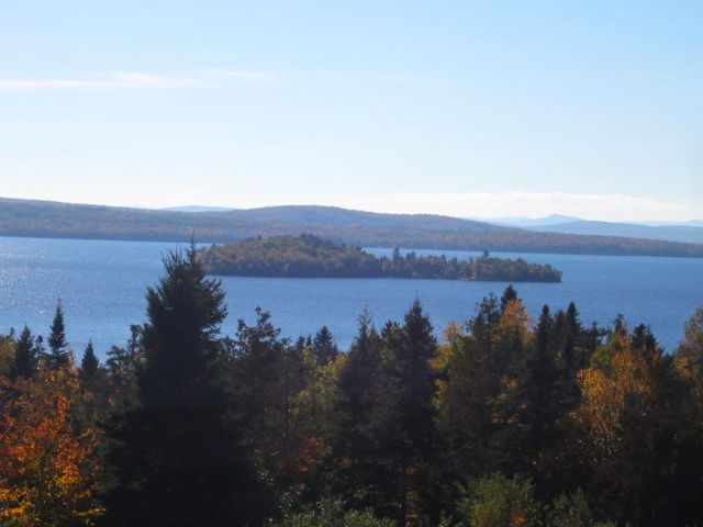 Fall Foliage-Rangeley Lake in October.