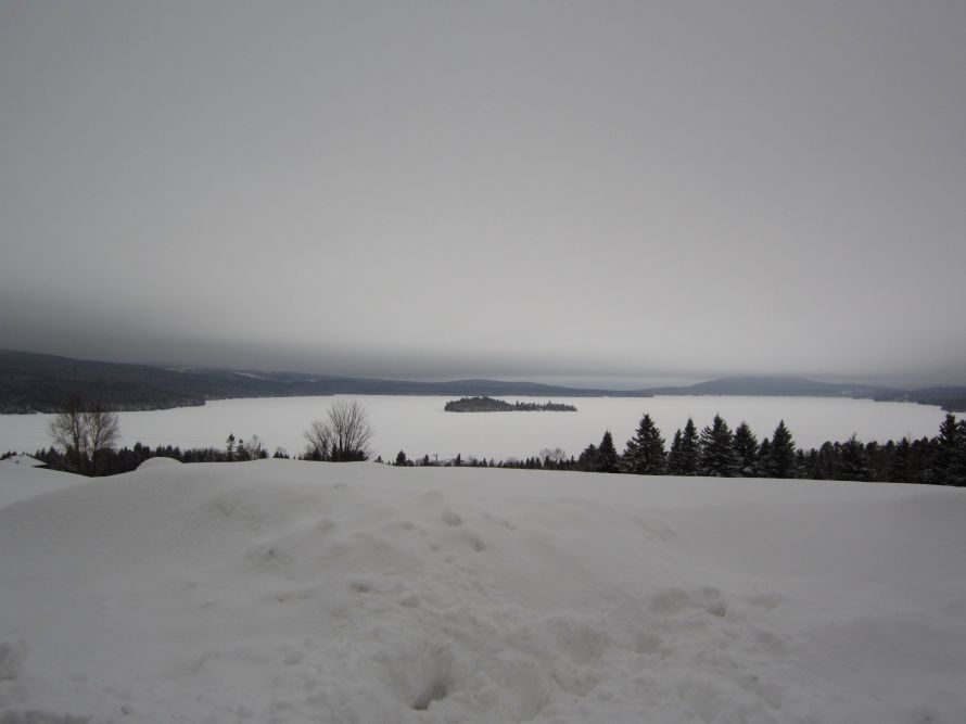Rangeley Lake in January.