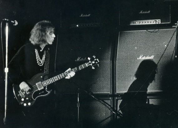The late Jack Bruce during his days with West, Bruce, and Laing (circa 1972).