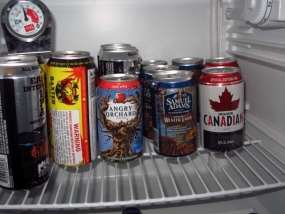 ...and a well-stocked beer cooler, too!