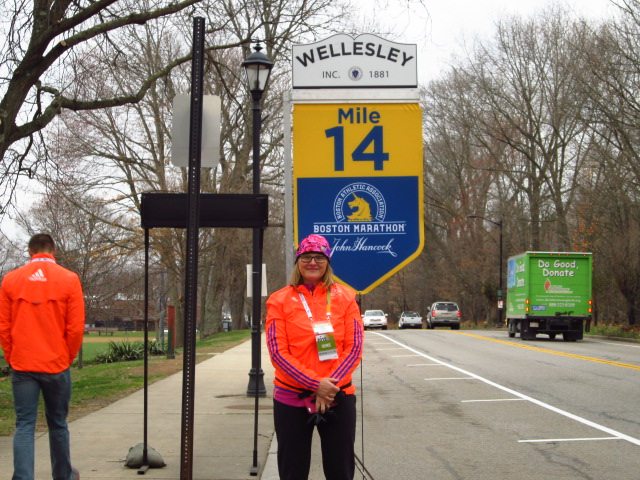 Miss Mary, taking care of Mile 14 in Wellesley.