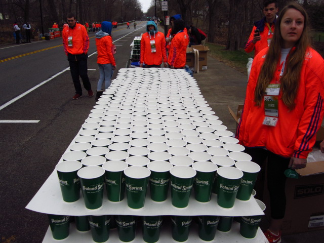 Gatorade table ready for the runners.
