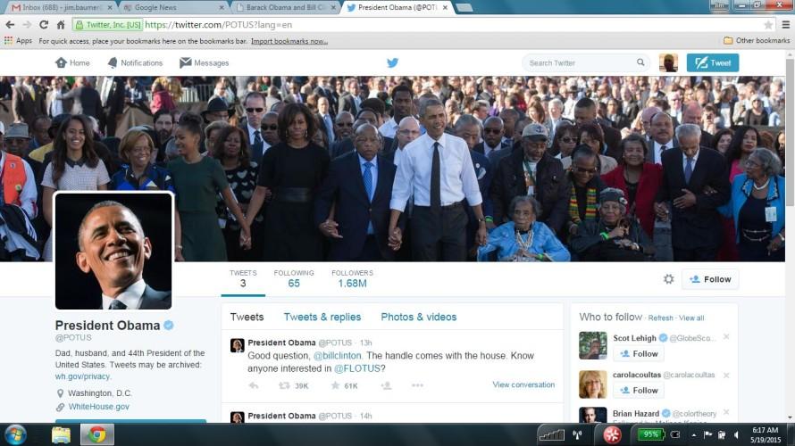 President's on Twitter.