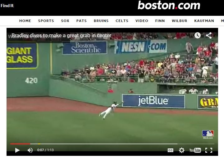 Jackie Bradley Jr. making another amazing catch.