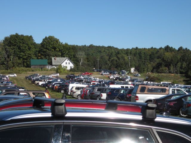 North parking lot, at Common Ground Country Fair.