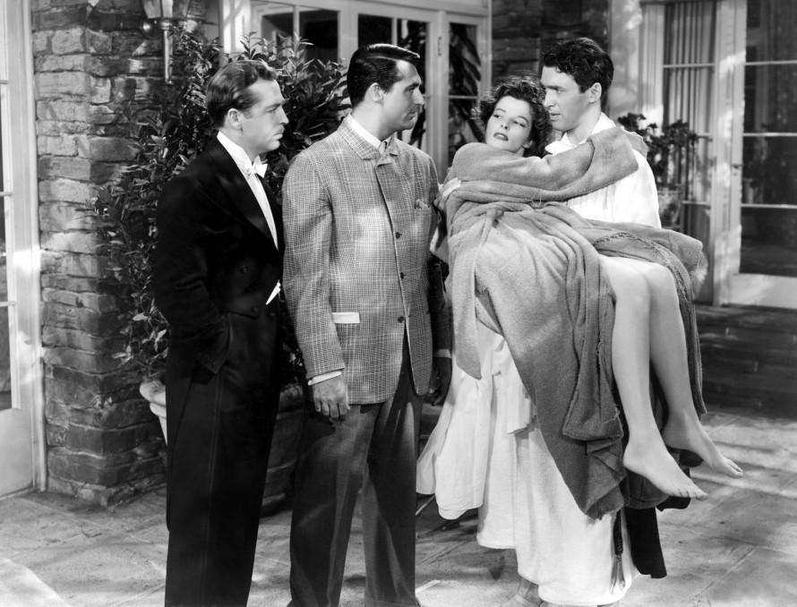 The Philadelphia Story (Jimmy Steward and Katherine Hepburn).