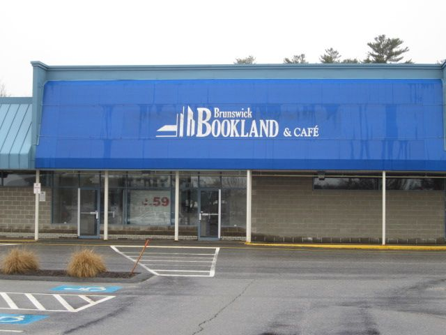 The late, great Bookland Store sits vacant at Cook's Corner, in Brunswick.