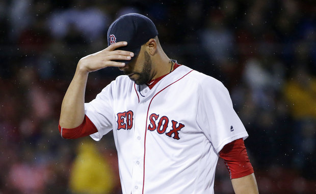 David Price leaving another less-than-stellar outing. (AP Photo/Michael Dwyer)
